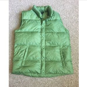 Lands End Puff Vest Green Size Large